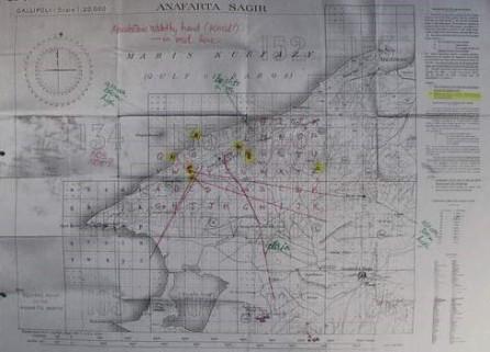 Suvla Bay map annotated